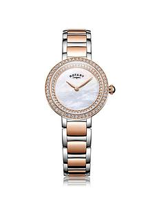 rotary-cocktail-mother-of-peal-dial-two-tone-bracelet-ladies-watch