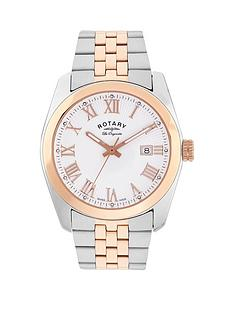 rotary-white-date-dial-two-tone-bracelet-mens-watch