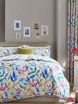 ideal-home-watercolour-leaves-cotton-rich-180-thread-countnbspduvet-cover-setnbsp