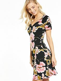 v-by-very-puff-shoulder-sweetheart-neck-dress
