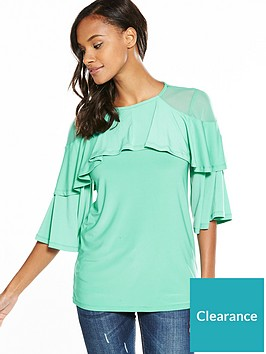 v-by-very-double-frill-layer-top-mint
