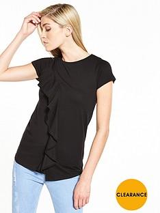 v-by-very-asymmetric-frill-top-black