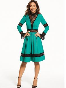 myleene-klass-lace-panel-dress