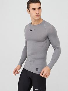 nike-pro-long-sleeve-compression-crew-top-carbon-heather