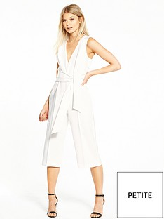 miss-selfridge-petite-tailored-tie-front-culotte-jumpsuit