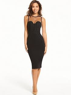 myleene-klass-corded-detail-mesh-bodycon-dress-black