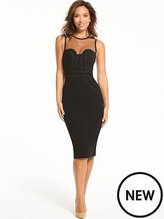 myleene-klass-corded-detail-mesh-bodycon-dress-black