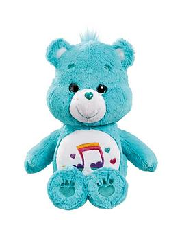 care bears medium plush with dvd heartsong bear