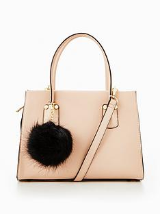 v-by-very-mini-tote-with-pom-pomsnbsp--nude