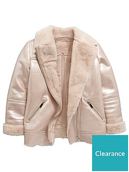 v-by-very-girls-pink-faux-shearling-jacket