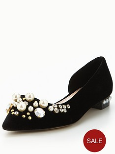 carvela-locket-pearl-flat-black