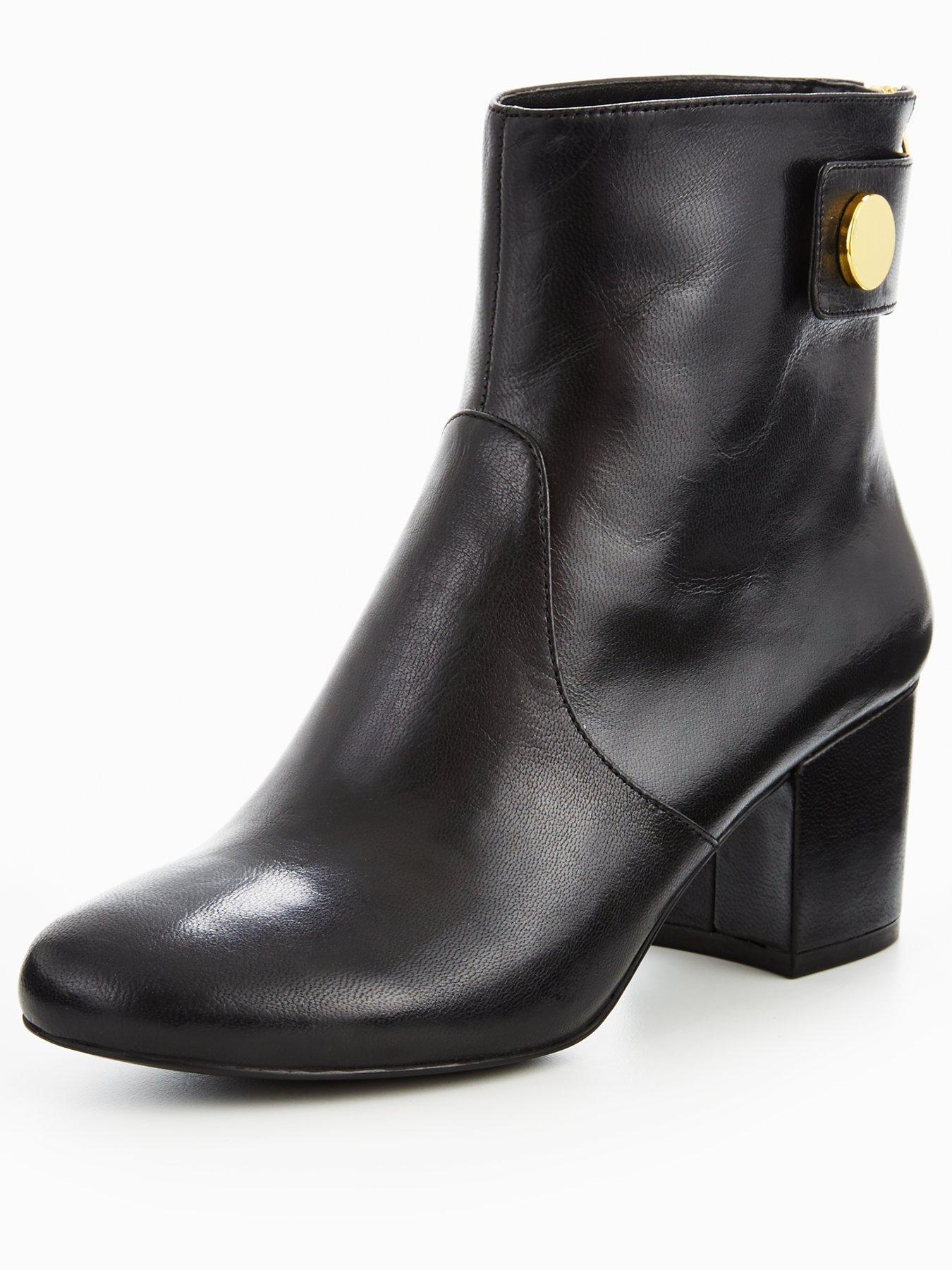 Nine West Quarryn Mid Heel Boot With Stud Detail 1600179961 Women's Shoes Nine West Boots