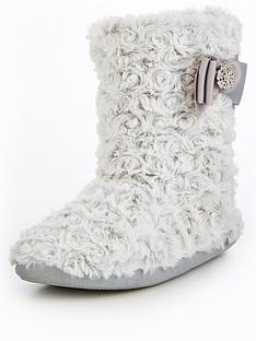 v-by-very-koko-curly-faux-fur-bow-detail-bootie-white