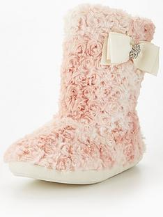 v-by-very-koko-curly-faux-fur-bow-detail-bootienbsp--pink