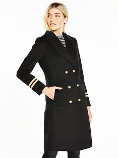 v-by-very-double-breasted-military-coat