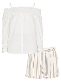 river-island-girls-lace-bardot-amp-stripe-short-outfit
