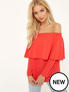 girls-on-film-bardot-ruffle-front-top