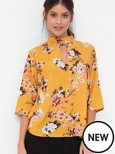 girls-on-film-choker-floral-blouse