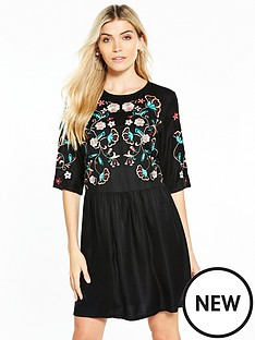 v-by-very-embroidered-body-dress