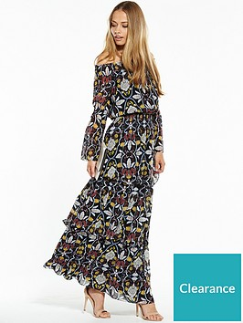 4b9105ee365f V by Very Printed Tiered Maxi Dress | littlewoodsireland.ie