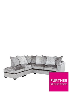 glitz-left-hand-fabric-corner-chaise-sofa-greysilver-blackpewter