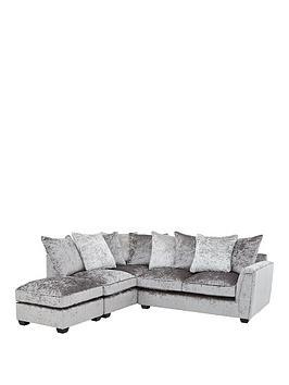 glitz-left-hand-fabric-corner-chaise-sofa-greysilver-blackpewter