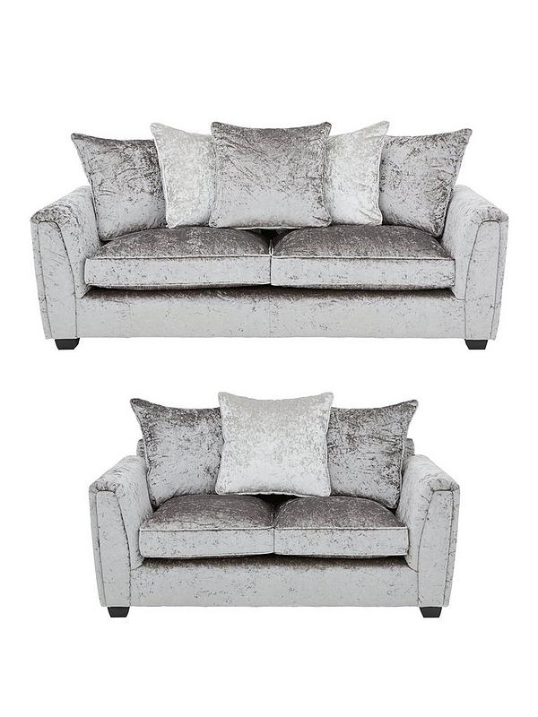 Glitz 3-Seater + 2-Seater Fabric Sofa Set (Buy and SAVE!)