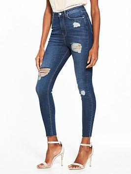 v-by-very-ella-high-waist-ripped-skinny-jean-dark-wash