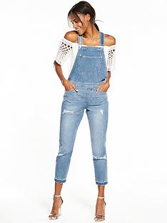 miss-selfridge-light-wash-dungareenbsp