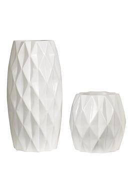 ideal-home-diamond-effect-vases-set-of-2