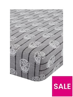 catherine-lansfield-skulls-fitted-sheet