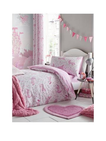 Details about  /Peppa Pig Pink Magical Unicorn Duvet Cover Set Reversible Toddler Cot Bed Girls