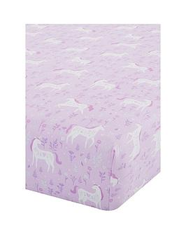 catherine-lansfield-folk-unicorn-fitted-sheet