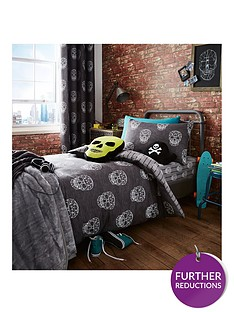 catherine-lansfield-skulls-lined-curtains