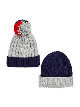 v-by-very-boys-knitted-bobble-hats-4-7-years-2-pack-navy