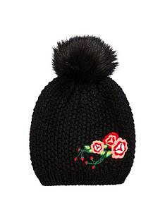 v-by-very-girls-embroidery-detail-beanie-hat