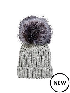v-by-very-girls-fur-pom-pom-sparkle-beanie