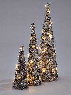 set of 3 light up cones