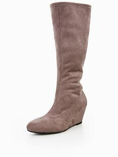 v-by-very-vanessa-imi-suede-stetch-wedge-boot-grey