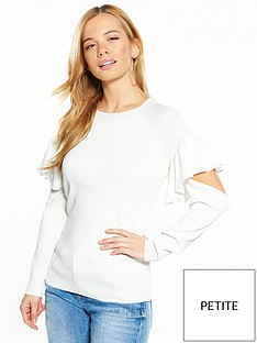 v-by-very-petite-cut-out-detail-premium-knit-jumper-ivory