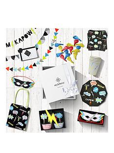 styleboxe-superhero-pow-luxury-childrens-birthday-party-decorations-set-up-to-8-guests