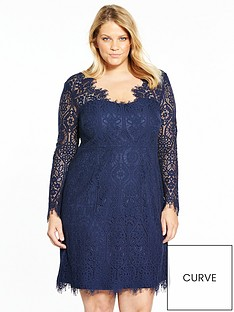 v-by-very-curve-eyelash-trim-lace-bodycon