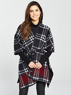 v-by-very-belted-fleece-check-cape