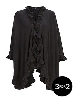 v-by-very-ruffle-detail-cape-black