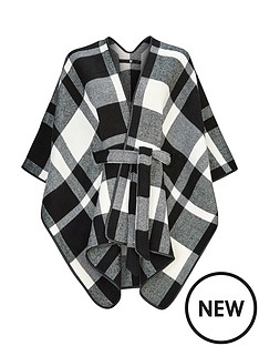 v-by-very-mono-check-belted-cape