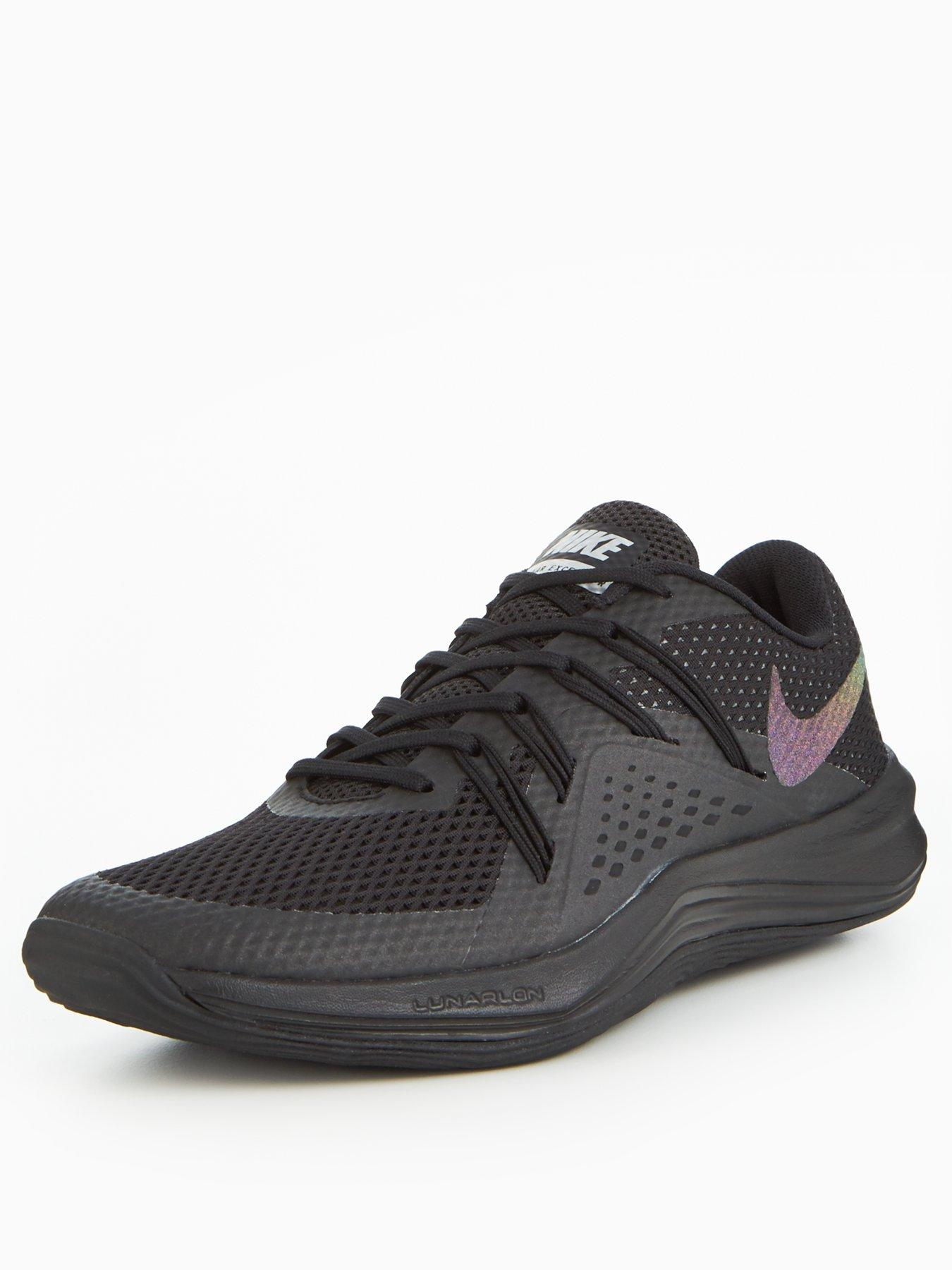Nike Shine Lunar Exceed TR Black/Silver 1600179741 Women's Shoes Nike Trainers