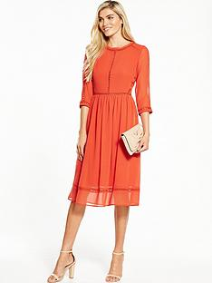 v-by-very-ladder-detail-midi-dress