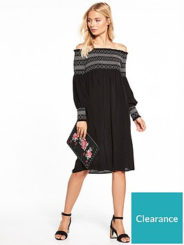 v-by-very-sheared-bodice-midi-dress