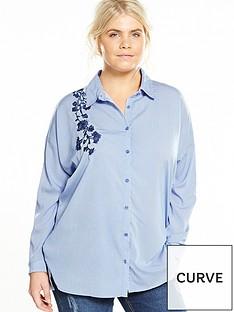 ax-paris-curve-embroidered-stripe-shirt