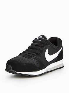 7f3154df3a3b1 Nike MD Runner 2 Junior Trainer - Black White